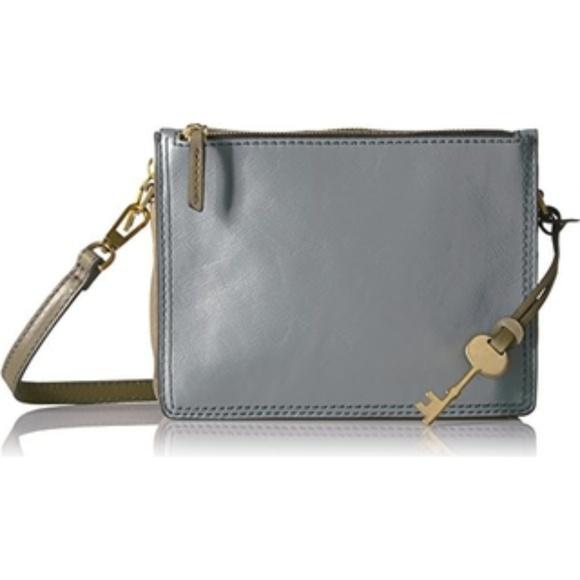Fossil Handbags - NWT Fossil steel blue campbell crossbody